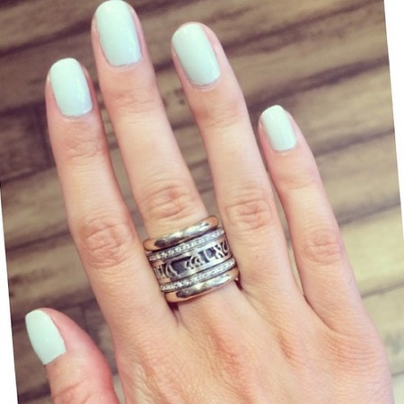 Mollie King's pastel green nails