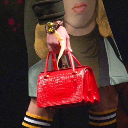 Red croc handbag