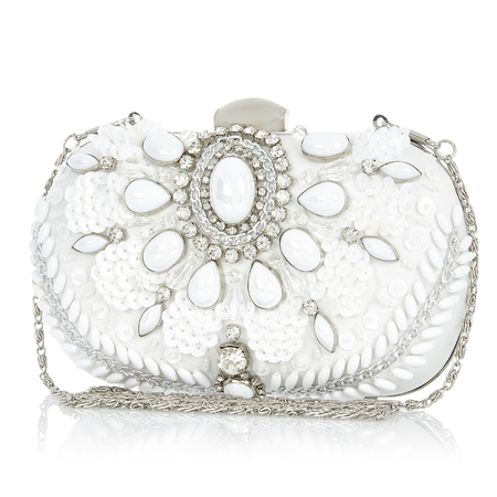river island white clutch bag - best white handbags - shopping bag - handbag