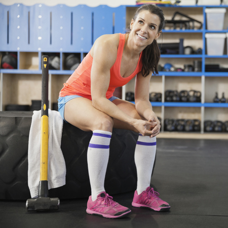 woman at sledgehammer workout -  gym workout fitness - Is_sledgehammer workout new workout craze? - gym news - gym bag - handbag.com