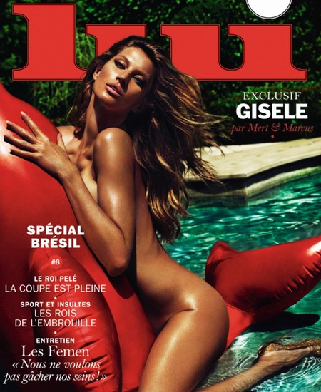 Gisele goes naked for Lui magazine cover - Mert and Marcus - Gisele naked pics - summer - celeb news - handbag.com