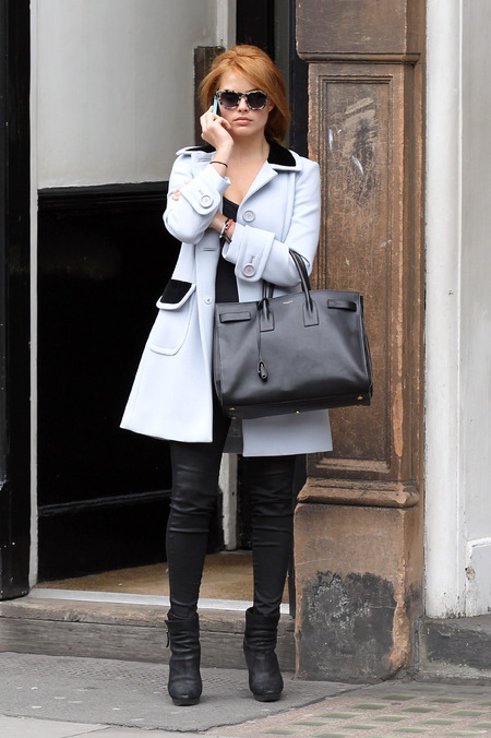 Celebrities carrying YSL handbags