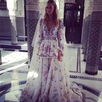 Would you wear a floral print wedding dress?