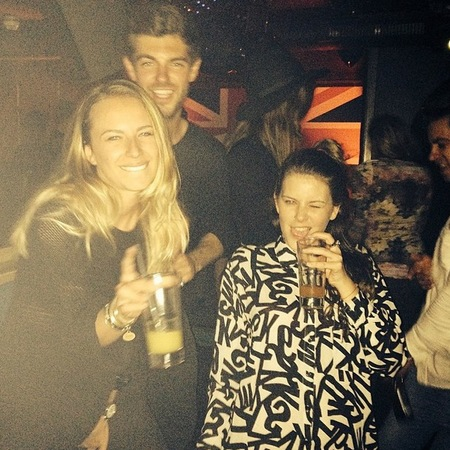 Alex Mytton partying with girls - drinking - binky - made in chelsea - handbag.com