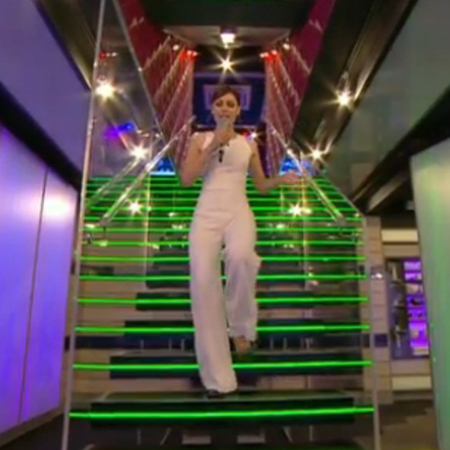 emma willis-big brother live launch summer 2014-white jumpsuit-all in one-celebrity fashion-handbag.com