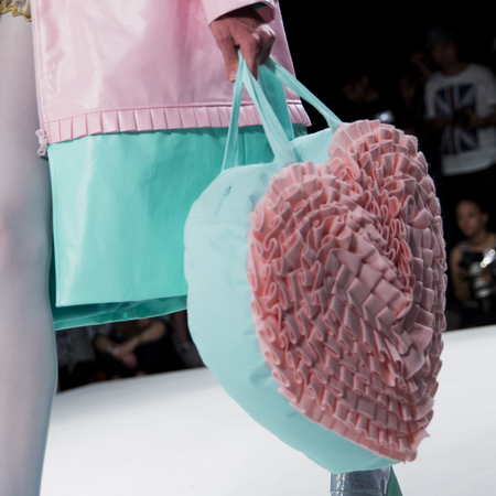 graduate fashion week 2014-best new handbag designers-anais caulfield blue and pink heart bag-handbag.com