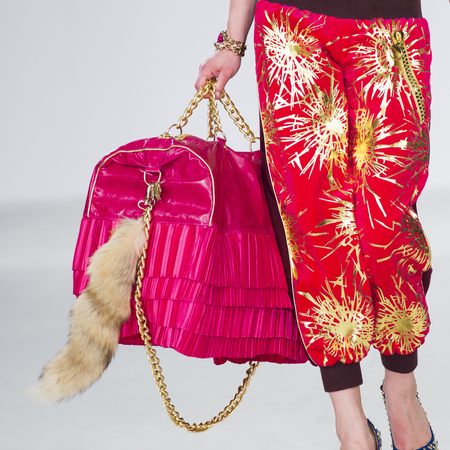 graduate fashion week 2014-best new handbag designers-michael hone big pink frill bag-handbag.com