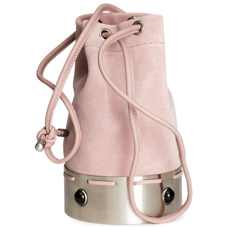 h&m suede bag - best pink handbags - shopping bag - handbag