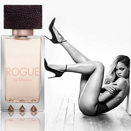 Rihanna Rogue perfume advert - soo sexy - naked - banned in UK - E! - handbag.com