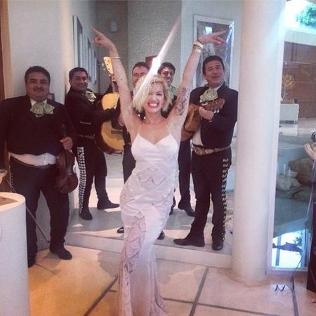 Rita ora - wedding dress - secretly married - handbag.com