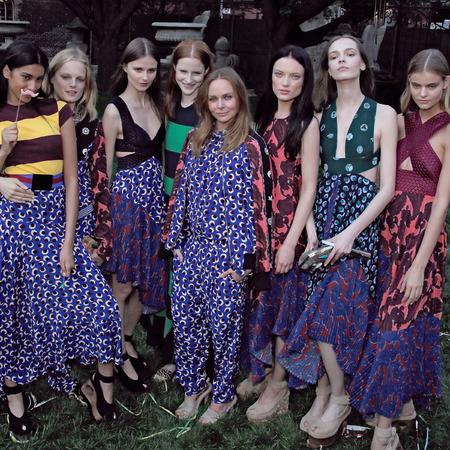stella mccartney resort pre spring 2015 garden party-superhero prints-jumpsuit trend-handbag.com