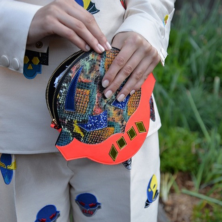 stella mccartney superhero clutch bag-resort 2015 handbag collection-garden party-handbag.com