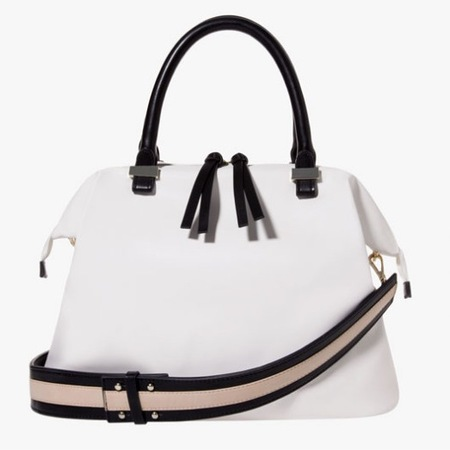 Stradivarius new handbags - Zara sister brand to launch in the UK - cheap handbags - shopping news - white bowling bag - shopping bag - handbag.com
