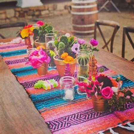 Whitney Port - wedding inspiration - planner - fiesta bright table setting - handbag.com