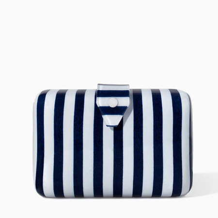 Zara striped minaudiere