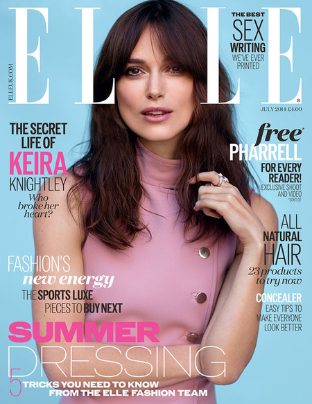 keira knightley elle cover - keira knightley secret wedding dress - shopping bag - handbag