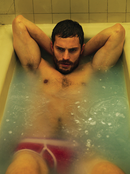 Jamie Dornan - Interview Magazine - bathtub - half naked - 50 shades of grey - handbag.com