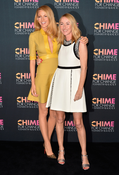 Blake Lively and Frida Giannini - Gucci - golden blonde hair - chime for change - handbag.com
