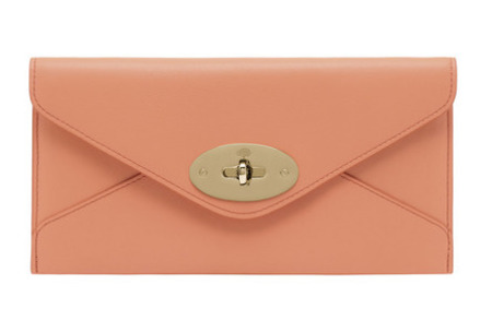 Mulberry mid season sale - discount - outlet - envelope wallet - purse - apricot pink - handbag.com