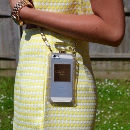 Best Instagram handbag photos -Gemma Talbot blogger - chanel phone case - handbag.com