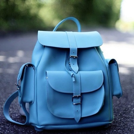 Best Instagram pictures of handbags - grafea - blue rucksack backpack - handbag.com