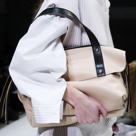 Chloe AW14 black and cream tote bag