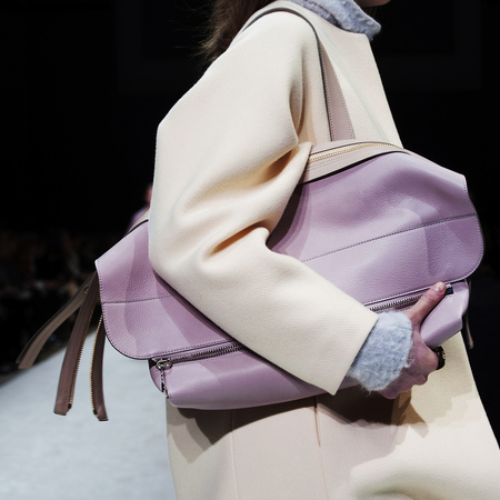 Chloe AW14 large pastel purple clutch