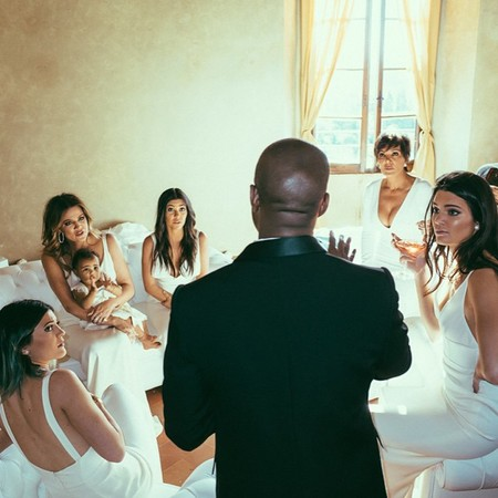 Kanye West and the Kardashian girls