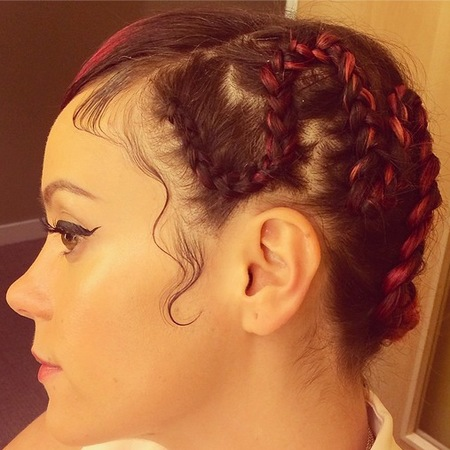 Lily Allen - plaints - corn rows - red hair - new summer hair trend - festival - handbag.com