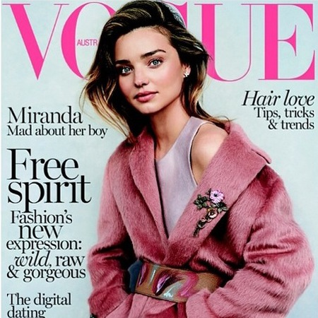 miranda kerr - cover of australian vogue - models with flynn bloom - instagram - handbag.com