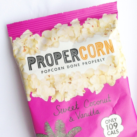 Propercorn coconut popcorn - popcorn snacks - best snacks - healthy snacks - gym bag - feature reviews - handbag.com