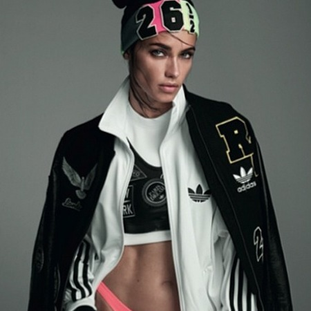 Rita Ora for Adidas - adriana lima - collection - tracksuit - black - handbag.com