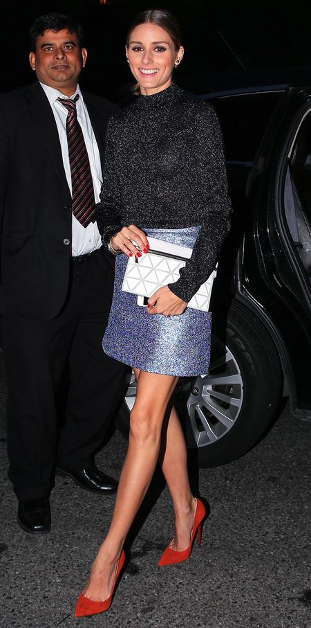 olivia palermo-victoria beckham zip pouch-white clutch bag-celebrity designer handbags-handbag.com