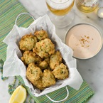 Salt cod fritters with piri-piri dipping sauce recipe