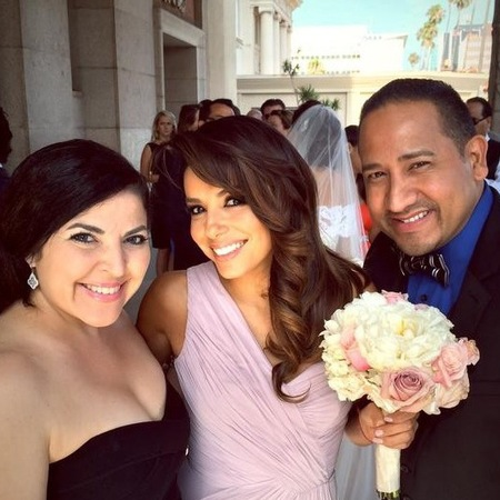 Eva Longoria as a bridesmaid