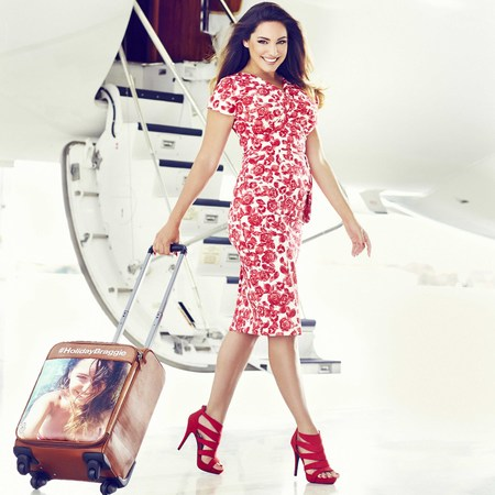 kelly brook - excess braggage - luggage customisation - social media - travel news - travel bag - handbag.com