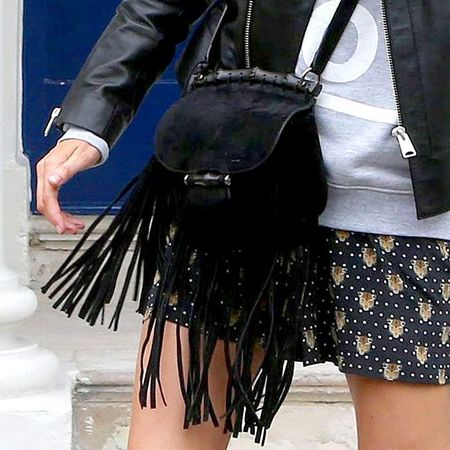 Poppy Delevingne's Gucci nouveau fringe bag