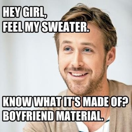 ryan gosling - hey girl memes - reasons why Ryan Gosling is a social media icon - feature - day bag - handbag.com