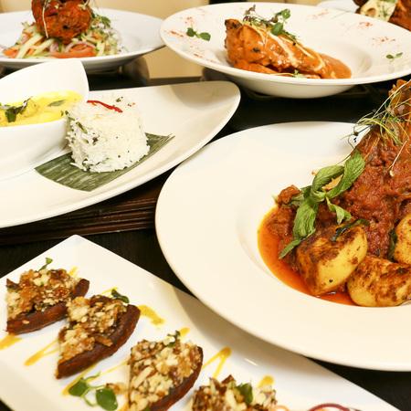 salaam namaste restaurant review - picture of indian food - evening bag - handbag