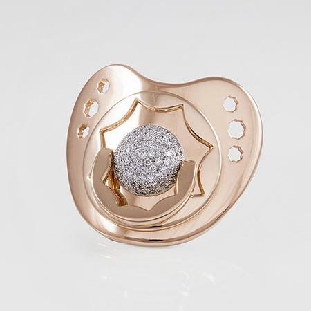 suommo rose gold and diamond dummy - north west next present - baby bag - handbag