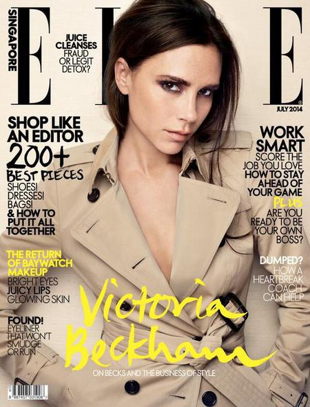 Victoria Beckham on the cover elle singapore - victoria beckham wants to empower women - day bag - handbag