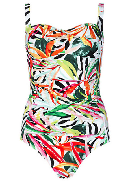 Marks and Spencer Glamazon print swimsuit
