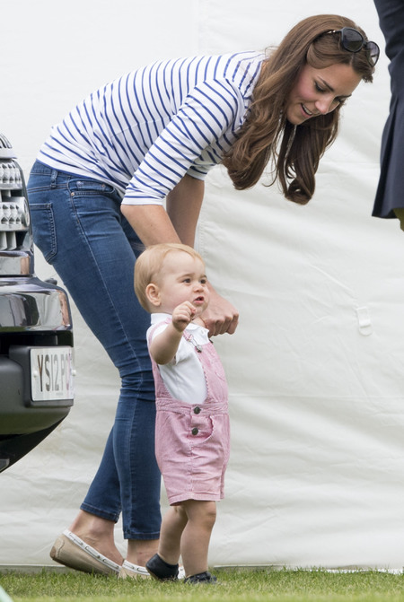 Prince George goes to the Polo