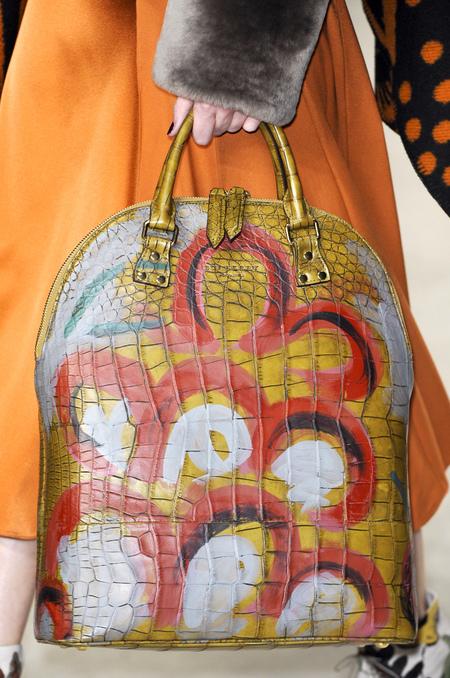 Painted croc Bloomsbury bag
