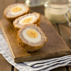 Scotch eggs with honey mustard dip recipe