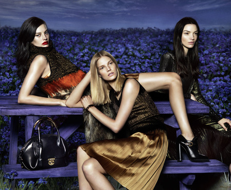 Salvatore ferragamo AW15 campaign - black bags - shopping bag - handbag
