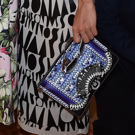 Linda Tol's Missoni print clutch bag