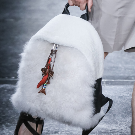 fendi-man bag-milan fashion week menswear-spring summer 2015-white fluffy backpack-handbag.com