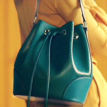 gucci-green-marine-sea green-diamante print duffle bag-pre-fall 2015 handbag collection-handbag.com