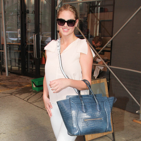 Kate Upton and her Celine Boston bag